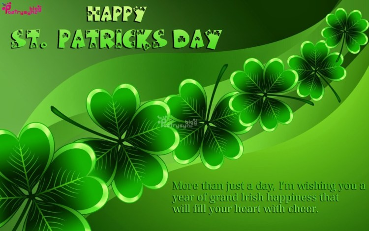 Wishing You A Year Of Grand Irish Happiness That Will Fill Your Heart With Cheer