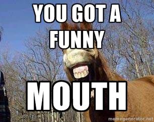 You got a funny mouth Horse Meme