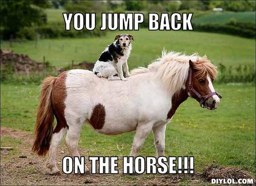 You jump back on the horse Memes