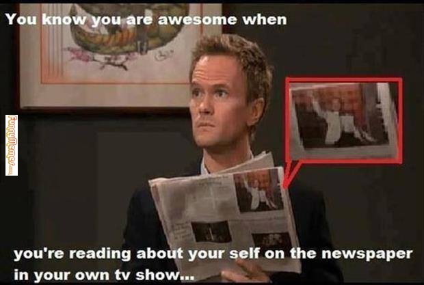 You know you are awesome when you're reading about your self on Cool Memes