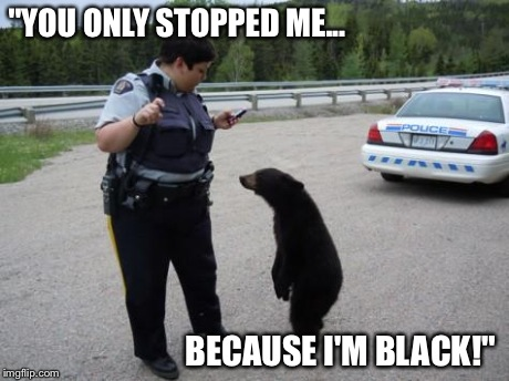 You only stopped me because I'm black Cops Meme