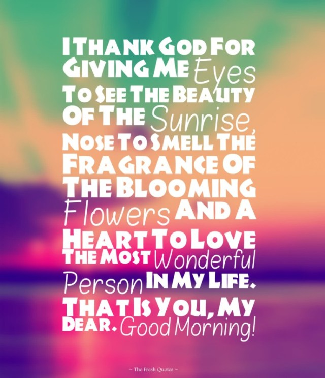 Amazing Good Morning Love Quotes