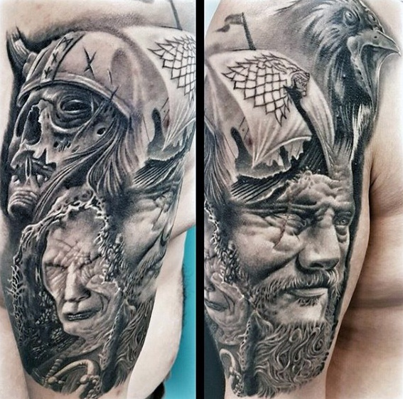 Awesome Game Of Thrones Tattoos On shoulder For guy