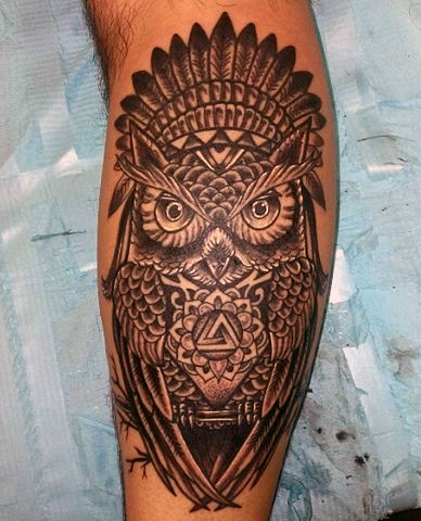 Beautiful Calf Tattoos On Arm for Boy