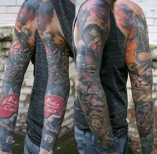 Beautiful Fallout Tattoos for Full sleeve