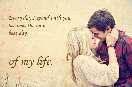 Best love Quotes every day i spend with you become