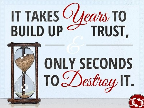 Broken Trust Quotes it takes years to build up trust only seconds