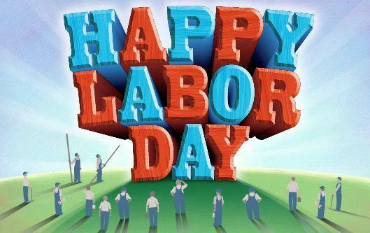 Celebrate Labor's Day Wishes Clipart