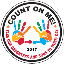 Count On Me Take Our Daughters And Sons To Work Day Logo Image