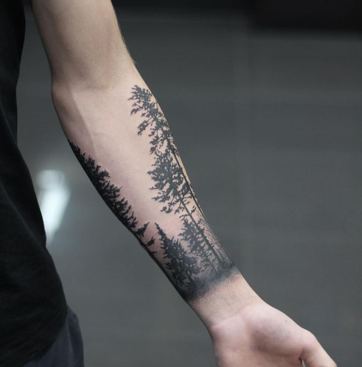Creative Forest Tattoos On arm for girl