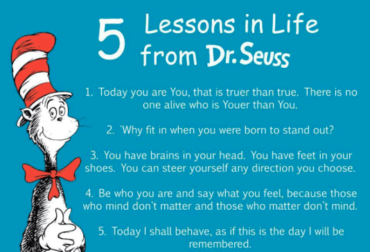 Dr Seuss Quotes 5 lessons in life from dr.seuss