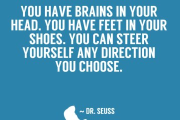 Dr Seuss Quotes you have brains in your head
