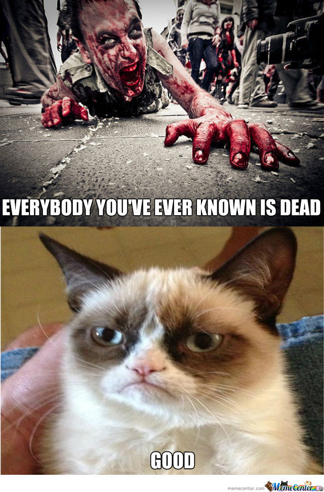 Everybody you've ever know is dead Zombie Meme