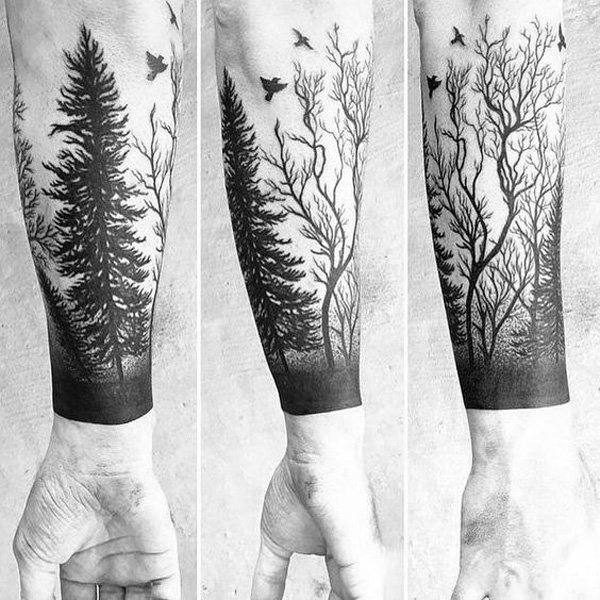 Fabulous Forest Tattoos On arm for men