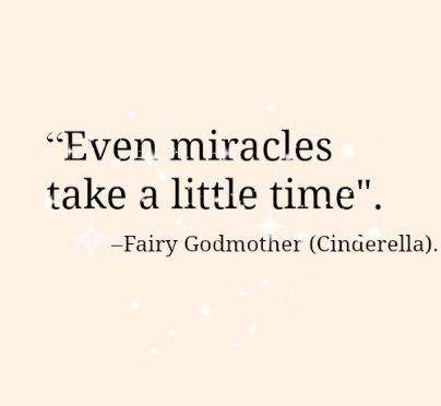 Godmother Quotes even miracles take a little time (3)