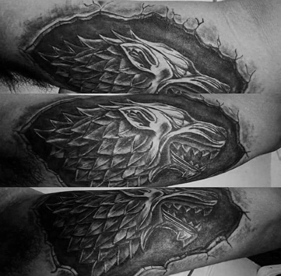 Great Game Of Thrones Tattoos On arm for men
