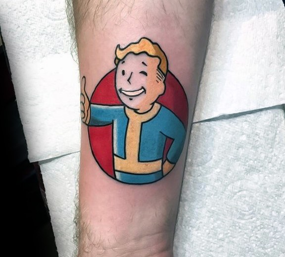 Horrible Fallout Tattoos For men
