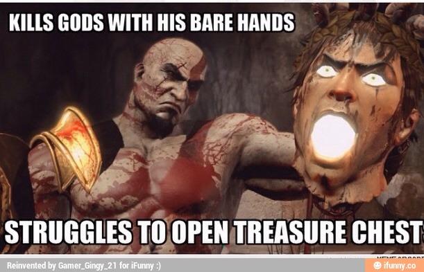Kills gods with his bare hands War Memes