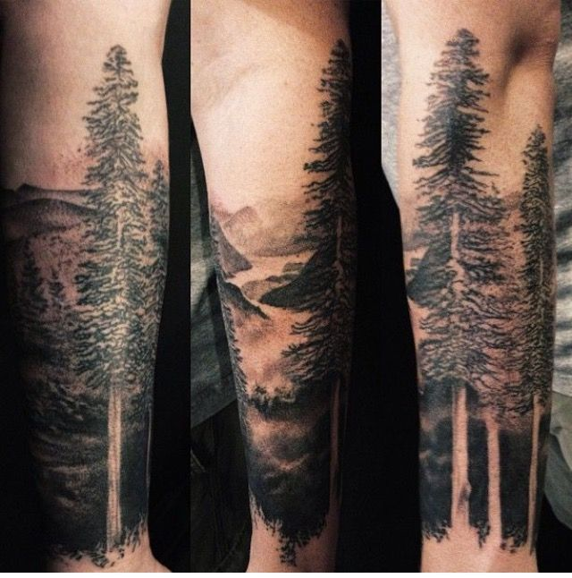 Latest Forest Tattoos On arm for guy