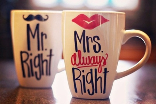 Love Quotes For Husband Mr. right Mrs. always right
