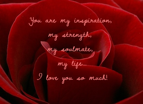 Love Quotes For Husband you are my inspirations my strength my soul mate