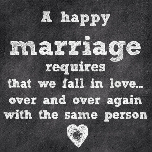 Love Quotes For Wife a happy marriage requires that we fall in love