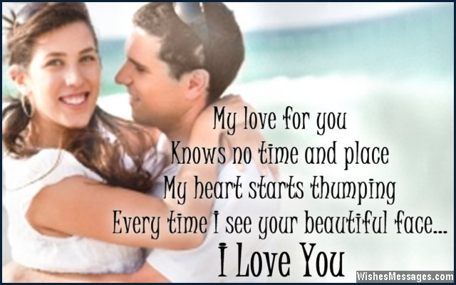 Love Quotes For Wife my love for you knows no time and