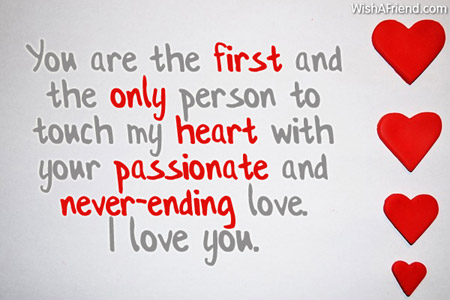 Love Quotes For Wife you are the first and the only