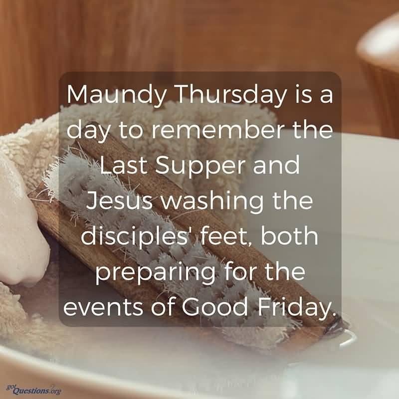 Maundy Thursday Jesus Quotes Message Wishes Images
