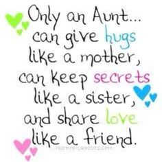 Niece Quotes only an aunt can give hugs like a mother can keep