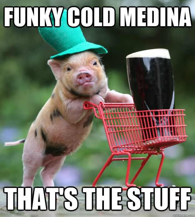 Pigs Meme Funky cold medina that's the stuff