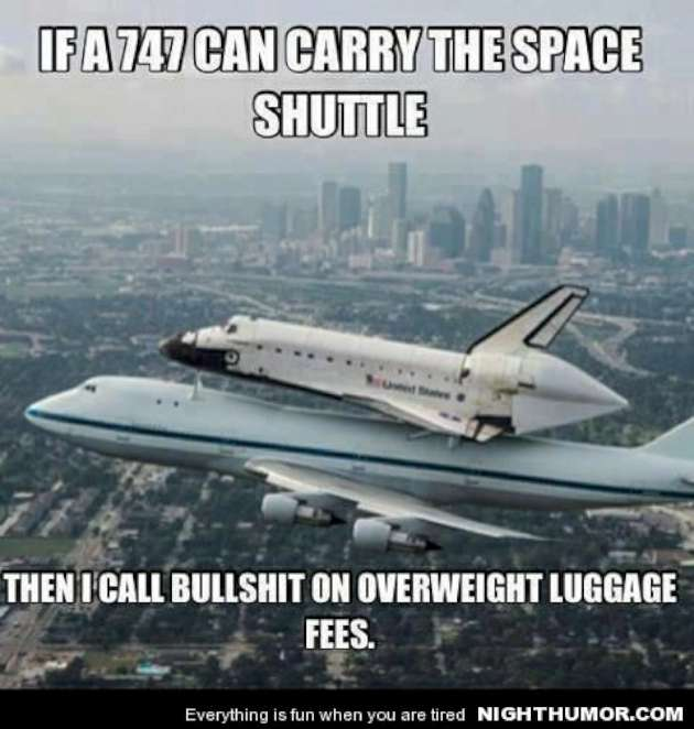 Plane Meme if a 747 can carry the space shuttle then i call bullshit