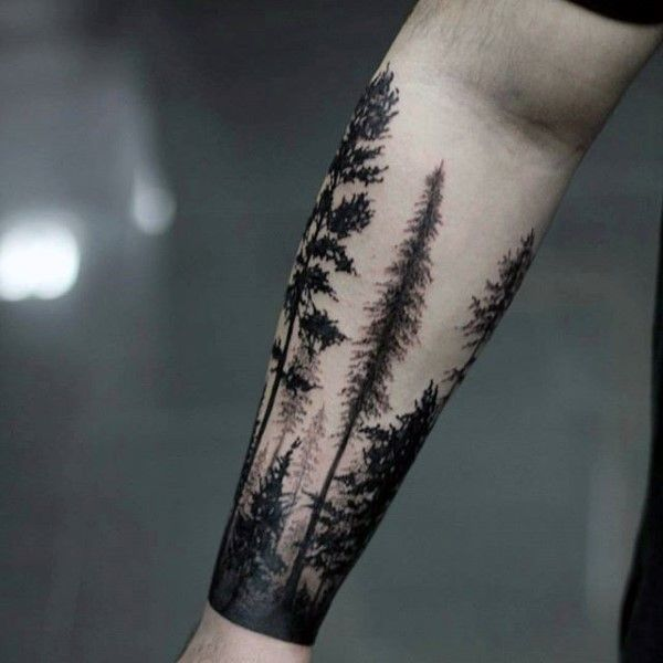 Popular Forest Tattoos On arm for guy