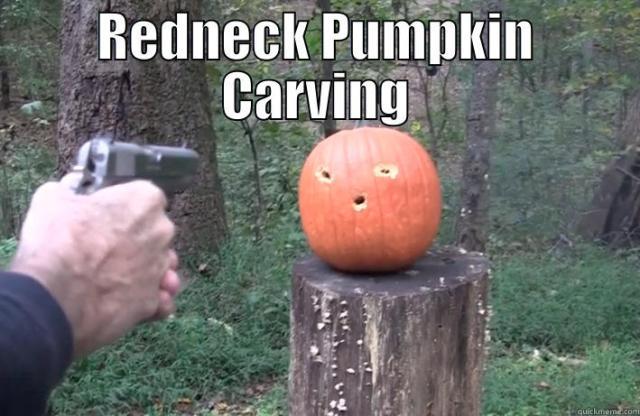 Redneck Pumpkin carving Pumpkin Meme