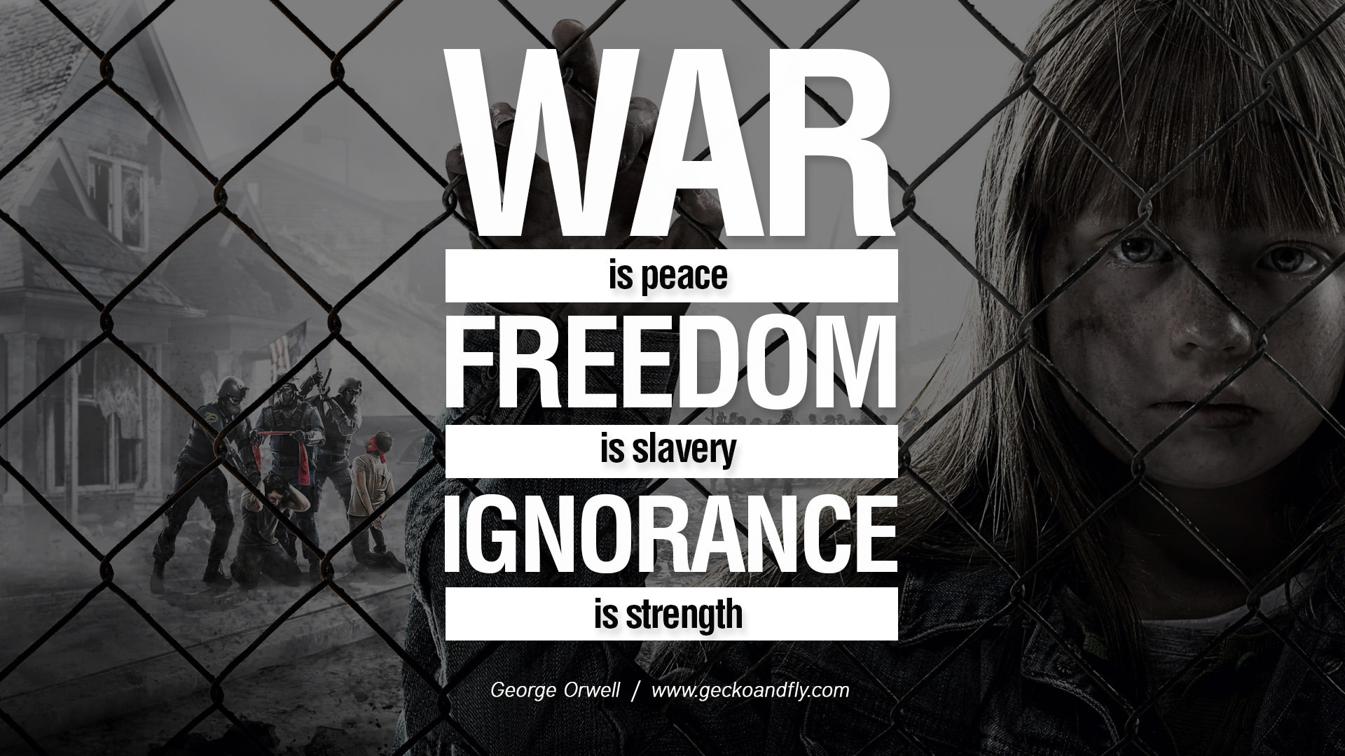 Slavery Quotes Revolution Quotes War Is Peace Freedom Is Slavery Ignorance Is