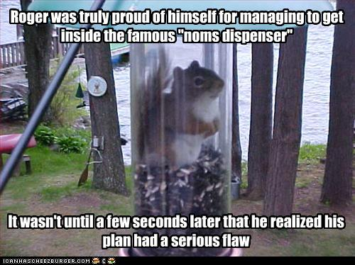 Roger was truly proud of himself for Squirrel Meme