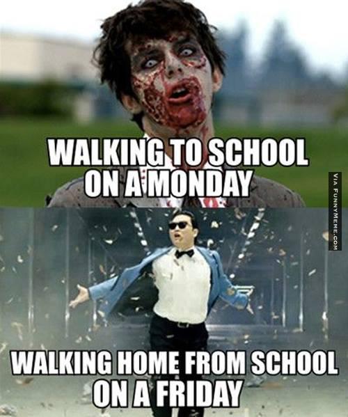 School Memes Walking to school on a monday walking