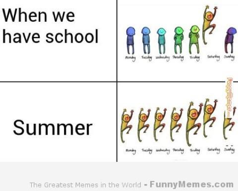 School Meme When we have School summer