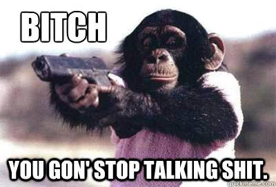 Shit Meme Bitch you gon' stop talking shit