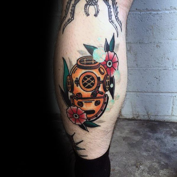 Short Diving Helmet Tattoos for boy