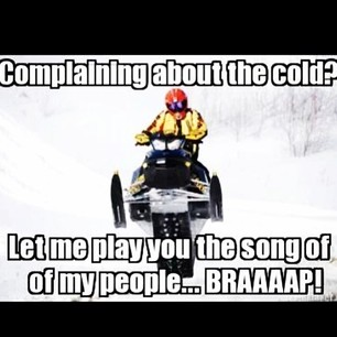 Sled Meme Complaining about the cold let me