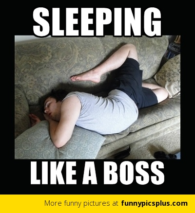 Sleeping like a boss Sleeping Meme