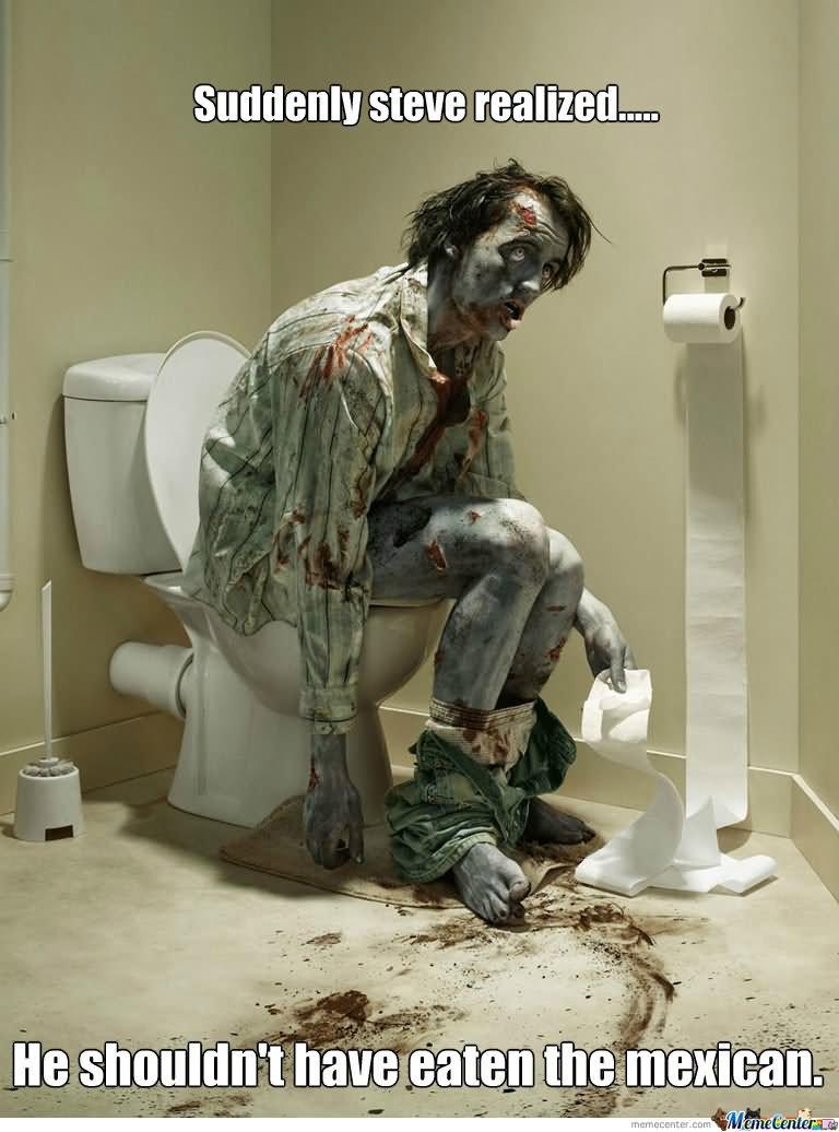 Studdenly steve relized Zombie Meme