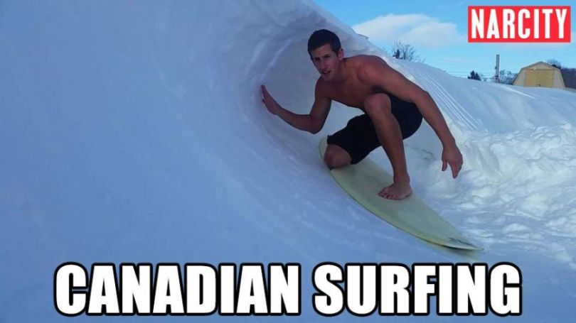 Surfing Meme Canadian surfing