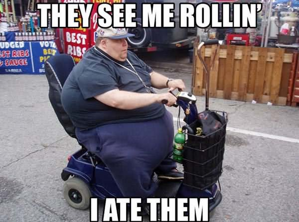 They see me rollin i ate them Zombie Meme