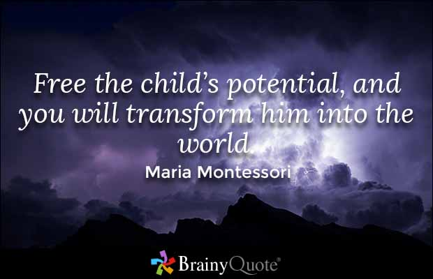 Transform Quotes Free the child's potential and you will transform him into the world