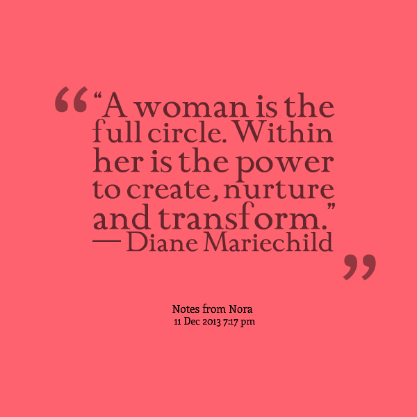 Transform Quotes a women is the full circle within her is the