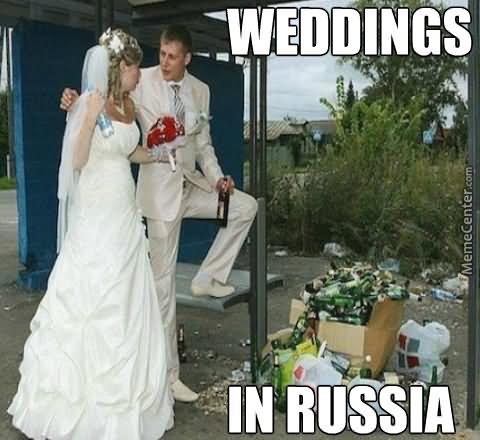 War Memes Weddings in Russia