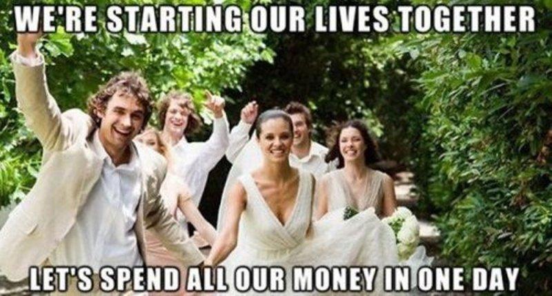 We're starting our lives together Wedding Meme