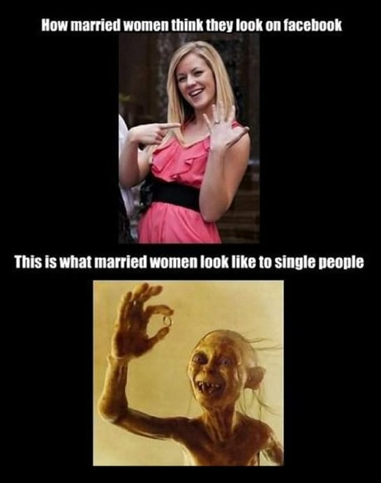 Woman Meme How married women think they look on facebook